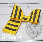 Wizard School House Inspired Cheer Bows Set BIG BOW project ITH